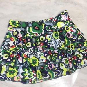 Armani Exchange Multi Color Floral Ruffle Skirt 2